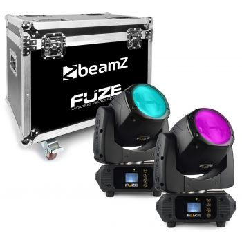BEAMZ FUZE-75B Set 2 Unidades Cabeza Movil SPOT 75W LED Con FlightCase 150385