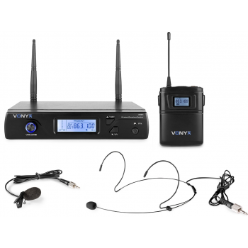 VONYX WM51 Microfono Inalambrico UHF 16CH Con Petaca 179261