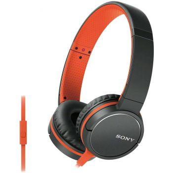 SONY MDR-ZX660 AP Negro / Naranja Auricular HiFi con Micrófono