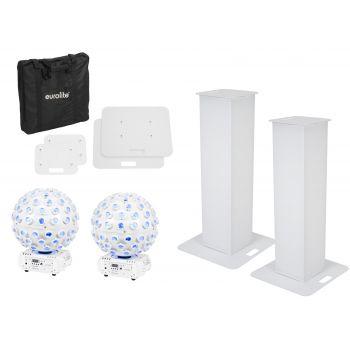Eurolite Set 2x Soporte de Escenario 100cm + 2x LED B-40 HCL Beam Efecto Blanco