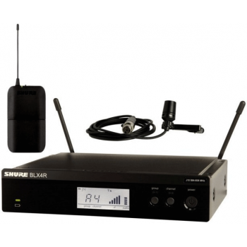 SHURE BLX14RE/CVL-K3E Sistema inalámbrico CVL Lavalier con receptor enracable. 606-630MHz
