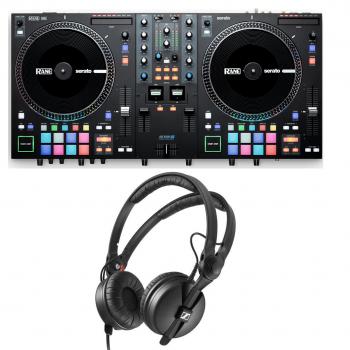 RANE ONE Controlador con Platos Motorizados de 7,2 pulgadas + Sennheiser HD 25 Auricular DJ