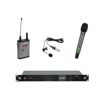PSSO Set WISE TWO Micrófonos Inalámbricos de Mano y Solapa 638-668MHz