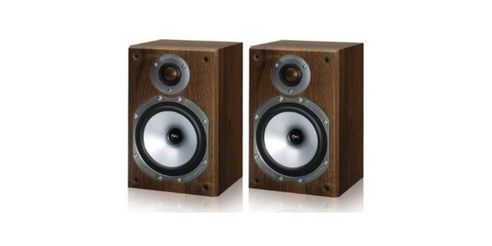 monitor audio altavoces mr1 walnut