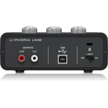 BEHRINGER UM-2 U-PHORIA Interface de Audio USB, UM2 Und.