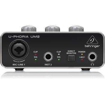 BEHRINGER U-PHORIA UM-2 Interface de Audio USB, UM2 Und.