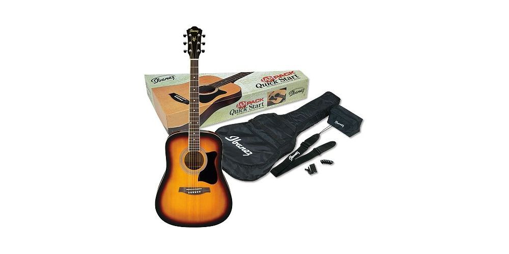 ibanez v 50njp vs guitarra acustica