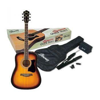 Ibanez V50NJP VS Kit Guitarra Acústica con Funda, Correa y Accesorios