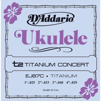 D Addario EJ-87 C Concert Tita Cuerda Ukelele