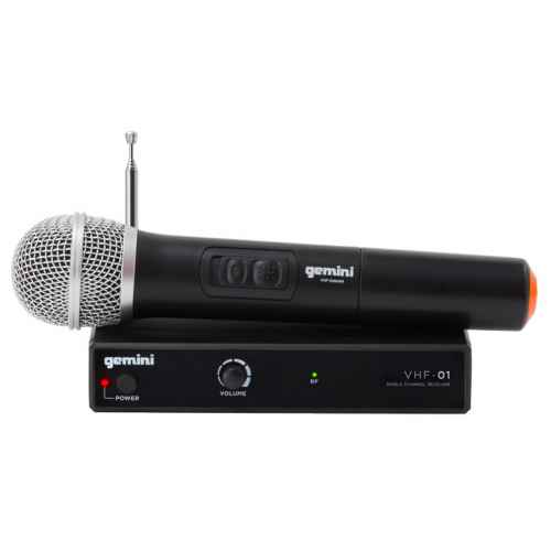 GEMINI VHF-01M Canal 6 Microfono Inalambrico Mano