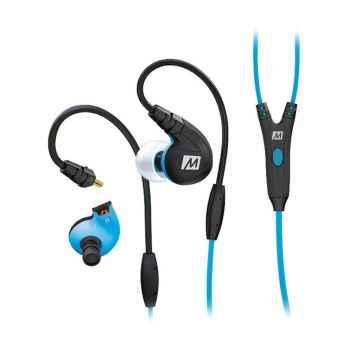 Mee Audio M7P Azul Auriculares deportivos con control integrado