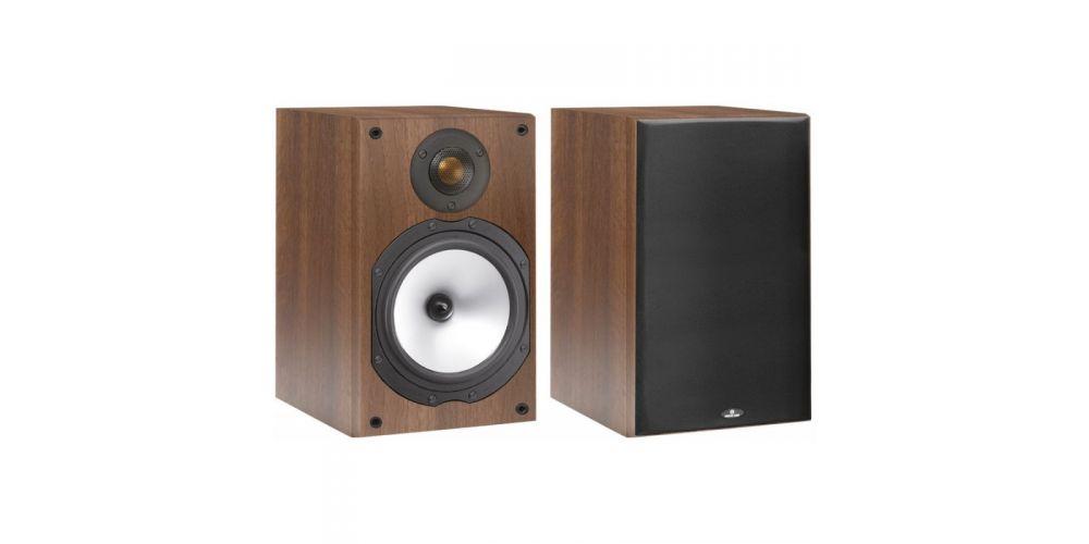 monitor audio mr1 walnut pareja