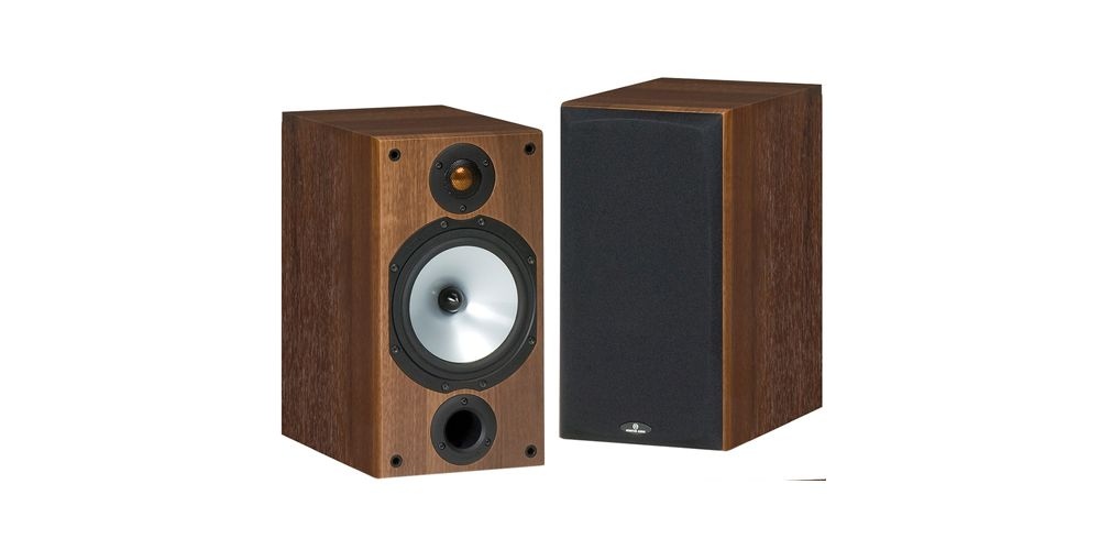 monitor audio mr2 walnut pareja
