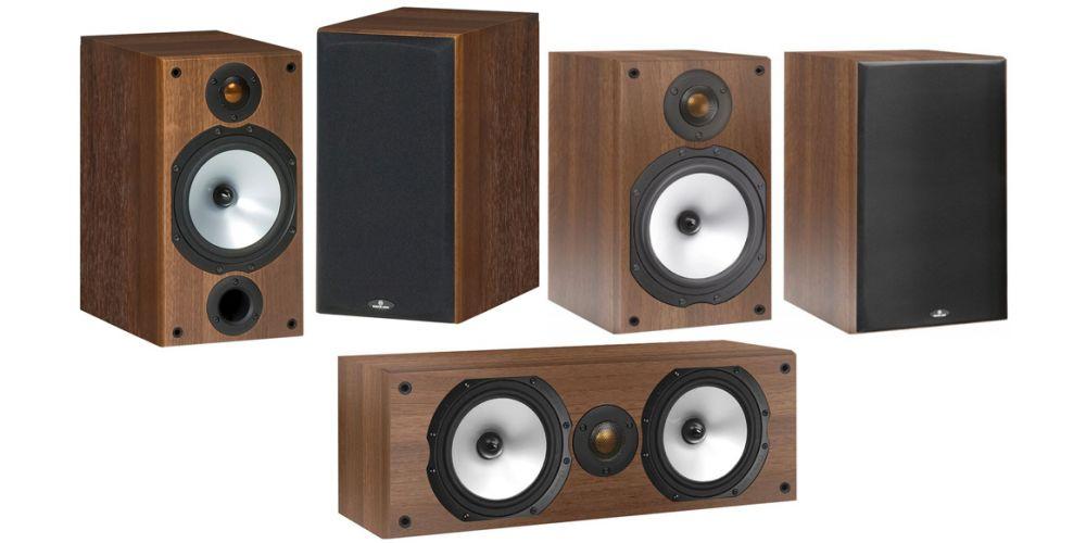 monitor audio mr2 walnut