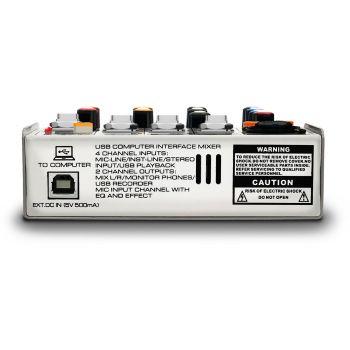 Audibax MG04 Go Mezclador de 4 Canales con Interfaz de Audio USB
