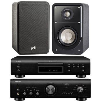 Denon PMA-800AE Black+DCD800+Polk Audio S15E. Sistema 800/S15 Conjunto Sonido