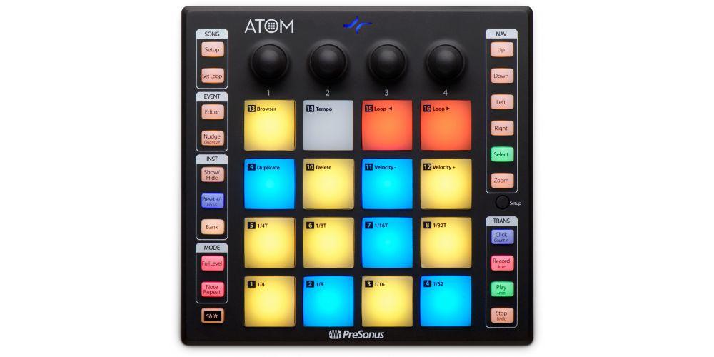 presonus atom controlador midi usb