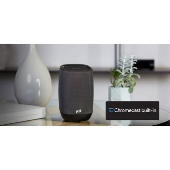 Polk audio ASSIS Black altavoz wifi, bluetooth