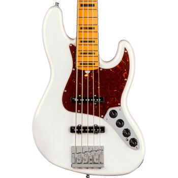 Fender American Ultra Jazz Bass V MN Arctic Pearl Bajo Eléctrico