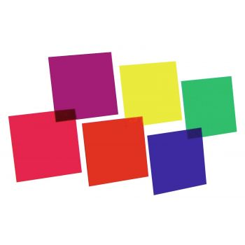 Eurolite Juego de Láminas de Colores 24x24cm 6 Colores