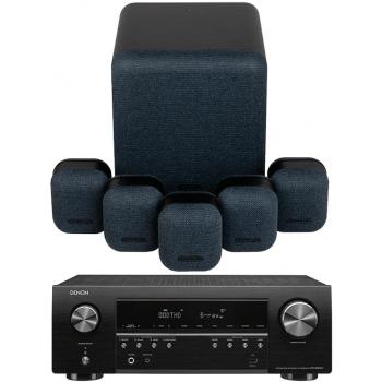DENON AVR-S650H+Monitor Audio Mass 5.1 Conjunto Home Cinema