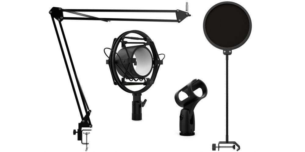 audibax podcast studio kit accesorios