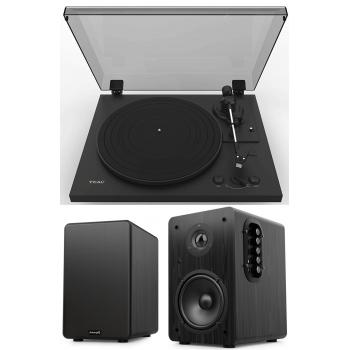Equipo HiFi TEAC TN-175 Black Giradiscos Con Previo Phono + Audibax Beta 1BT Altavoces Activos Bluetooth