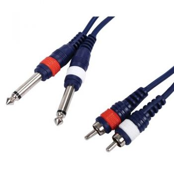 Cable Pro 2 x Jack a 2 x Rca, 6 Metros, 2JACK-2RCA-6M-MH RF:29