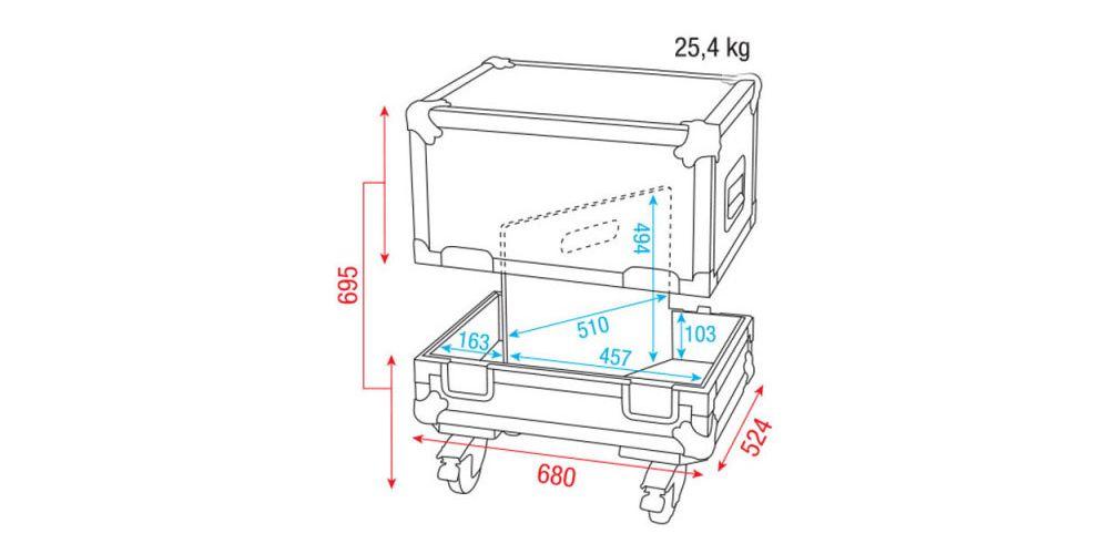 dap audio flightcase 2x monitores escenario 12 d7320 picture