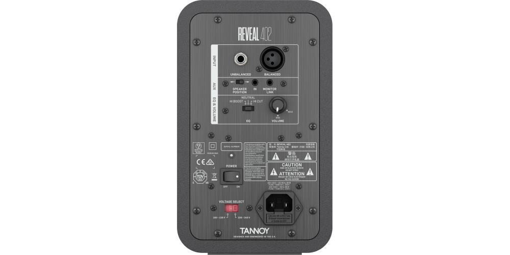 TANNOY REVEAL 402 MONITOR ACTIVO CONEXIONES