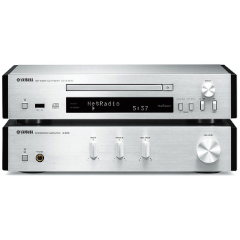 Yamaha MCR-N670D Silver Sin altavoces