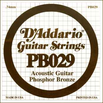 D´addario PB029 Cuerda Suelta para Guitarra Acústica