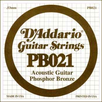 D´addario PB021 Cuerda Suelta para Guitarra Acústica