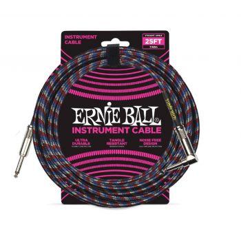 Ernie Ball 6063 Cable Instrumento Trenzado JACK-JACK 7,62 Metros