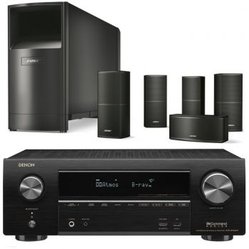 Denon AVR-X2600+Bose AM10V Black Cinema Pack 5.1 Conjunto AV