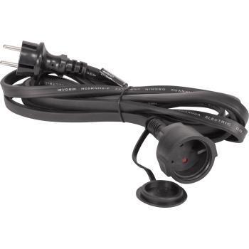 Ibiza Light LED STRING-EXTCAB Cable plano de 3 m