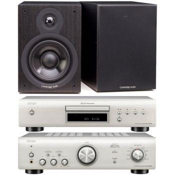 Denon PMA-600 NE Silver+DCD-600 Silver +Cambridge Audio SX-50 Black Conjunto Audio