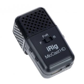 IK Multimedia iRig Mic Cast HD Micrófono de Condensador USB Compacto
