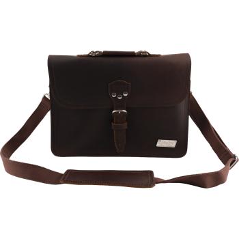 Bigsby Leather Laptop Bag Brown