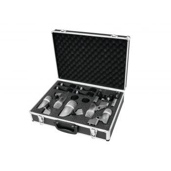 Omnitronic MIC 77-7LMH Set Micrófonos para Batería