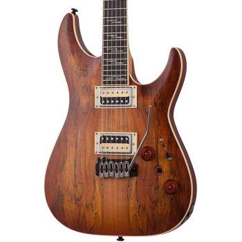 Schecter C-1 Exotic Spalted MN Satin Natural Vintage Burst. Guitarra Eléctrica
