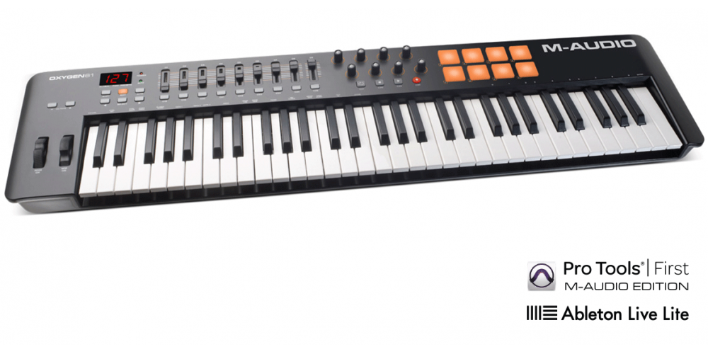 m audio oxygen61 mk4 teclado