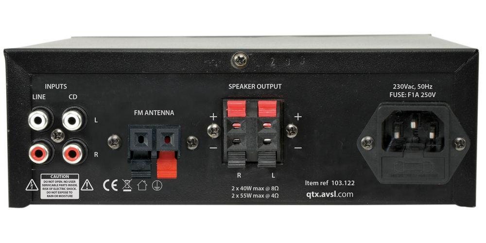 QTX KAD2BT Amplificador Karaoke
