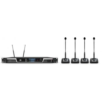 LD SYTEMS U505 CS4 Sistema de conferencia inalámbrico de 4 canales