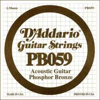 D´addario PB059 Cuerda Suelta para Guitarra Acústica