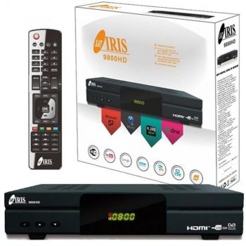 Iris 9800 HD Receptor de TV por Satélite (Full HD, WiFi) ( REACONDICIONADO )
