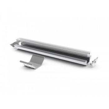 Quarkpro AL-ESQ Perfil Aluminio Esquina con Tapa Frost 2 Metros