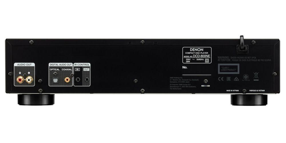 denon DCD800NE black compact disc conexiones