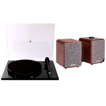 REGA Planar 1 Plus Negro+Ruark MR1 K2 Walnut