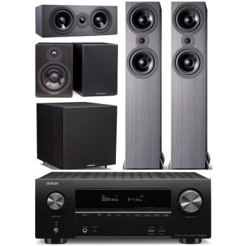Denon AVRX2600+Cambridge SX80 BK Cinema Pack 5.1 Conjunto AV